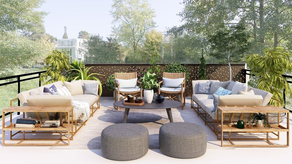 Outdoor furniture for the hospitality industry